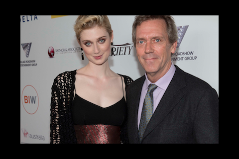 Elizabeth Debicki and Hugh Laurie